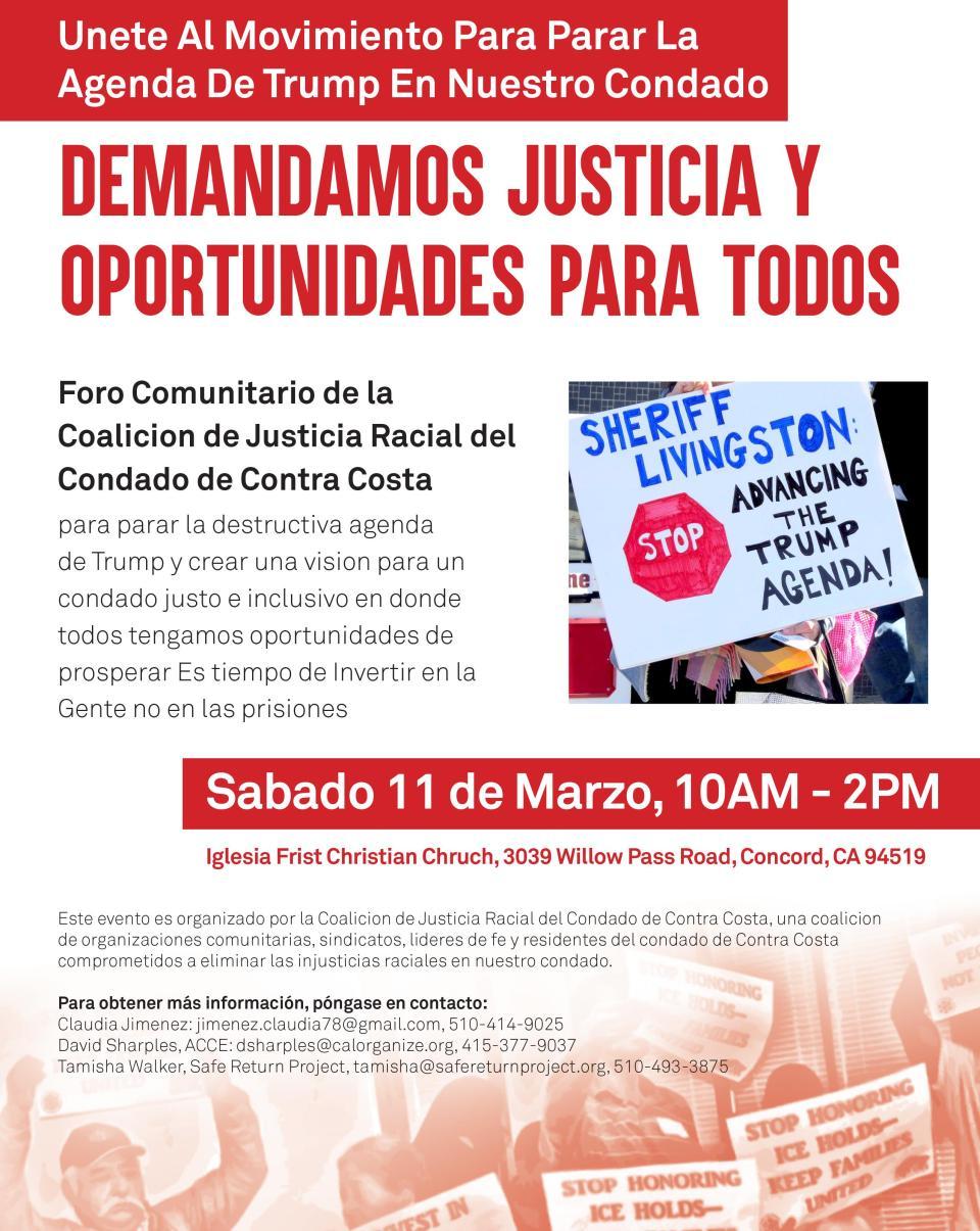 CCCRJC March 11 2017 Event Spanish